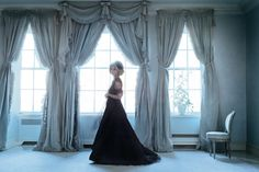 Deeda Blair is in her own Ralph Rucci gown. The tole clematis is by Carmen Almon.