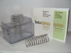 Gourmet Food Press w/Light Tension Spring - Tofu Press and beyond - removes moisture from tofu and other foods, homemade cheese, macrobiotic salads and more. by TofuXpress, Inc.. $47.90. Press tofu, veggies and more!. Press water out, let flavor in!. ALL ORDERS SHIP VIA USPS PRIORITY MAIL  This item includes the Gourmet Food Press and the Light Tension Spring #2 Attachment packaged in one box.  The Light Tension Spring #2 Attachment is used to press lighter foods like cheese & yo...