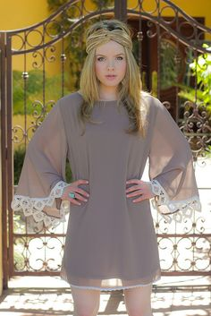 Autumn bound in this leaf trimmed boho dress