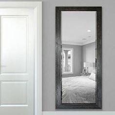Gracie Oaks Zandra Farmhouse Beveled Distressed Full Length Mirror Size: 66 x Finish: Distressed White Bathroom Mirror With Shelf, Bathroom Wall Decor, Single Bathroom Vanity, Tall Mirror, Cool Mirrors, Unique Mirrors, Beautiful Mirrors, Beveled Mirror, Beveled Glass