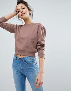 7731d25e946d Sweatshirts für Damen   Kapuzenpullover für Damen   ASOS.  OberteileDamenRundhals SweatshirtLässige ...
