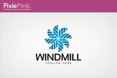 Wind Mill Logo Template by PixiePink on Creative Market