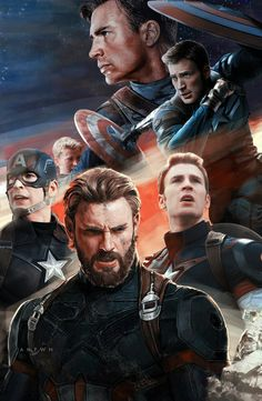 Captain America from the first avenger to infinity War look