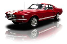 Candy Apple Red 1967 Ford Shelby Mustang GT500 | RK Motors Charlotte | Collector and Classic Cars