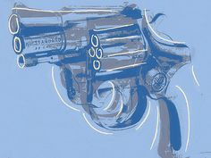 Philippe LE MIERE 'Handgun' Signed ORIGINAL Print Andy Warhol Gun wall art  #PopArt