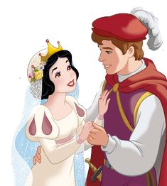Snow White and her Prince's romantic Wedding Day Arte Disney, Disney Magic, Disney Pixar, Disney Characters, Snow White 1937, Snow White 7 Dwarfs, First Disney Princess, Cute Princess, Disney Couples