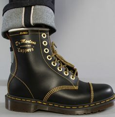 7567b0ecfaf2 The Capper 8-Eye Boot in Black Crooks And Castles