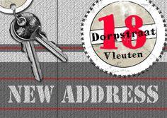 hip en trendy nieuw adres a - Verhuiskaarten - Kaartje2go