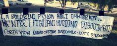 Ad accoglierla, flash mob e striscioni affissi nelle vicinanze dell'Università di Foggia e all'ingresso del CUS di via Napoli   http://tuttacronaca.wordpress.com/2013/09/20/laura-boldrini-in-visita-alluniversita-di-foggia-flash-mob-e-striscioni-di-protesta/
