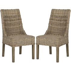bring a touch of the islands to life in your dining room with this pair of rattan dining chairsarm