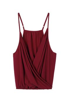7366ddd6c02e0 Deep V Cami Top In Claret - US 13.95