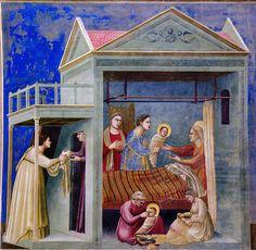 Giotto - La nascita di Maria. Padova, Cappella degli Scrovegni by renzodionigi, via Flickr