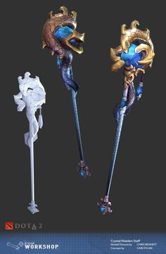 DotA 2 Workshop by Chris Bennett on ArtStation. Weapon Concept Art, Game Concept Art, 3d Fantasy, Fantasy Weapons, Prop Design, Game Design, Chris Bennett, Hand Painted Textures, Anime Weapons