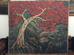 Widayat. Poinciana tree. 151x179. Private Collection
