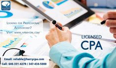 The team of highly qualified professionals in the company named #HarryCPA has come across as a highly acclaimed service providing company in the related field. The professionals are all highly qualified and have years of experience to offer the best accounting guidance to their list of esteemed clients.