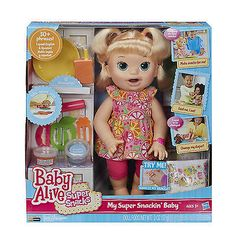 Baby-Alive-Super-Snacks-Baby-Snackin-Sara-with-Reusable-Doll-Food-NEW