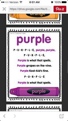 Beginning Of Kindergarten, Kindergarten Songs, Beginning Of School, Preschool Color Activities, Preschool Songs, Songs For Toddlers, Kids Songs, Color Song For Kids, Family Day Care