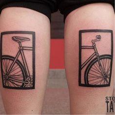 Bike tattoo by Stoznia. bike fixie biker cyclist biking sport
