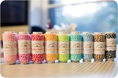 Bakers' twine. Love the orange and acid-green!