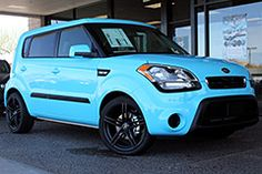 Custom Baby Blue Wrap on a new Kia Soul
