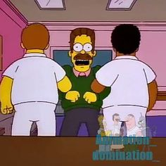 """The simpsons video clip """"Kicking and screaming please."""" .... Hurricane Neddy- season 8 episode 8 #thesimpsons"""
