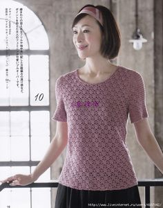 Let's knit series Crochet Box, Crochet Shirt, Crochet Jacket, Crochet Woman, Knitting Stitches, Crochet Clothes, Crochet Patterns, Clothes For Women, Tops