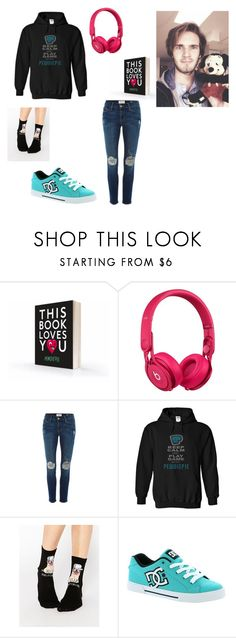 """""""Pewdiepie outfit"""" by hip-like-jaden ❤ liked on Polyvore featuring Disney, Beats by Dr. Dre, Frame Denim, ASOS, DC Shoes, women's clothing, women, female, woman and misses"""