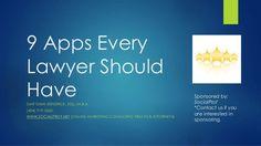 Díez y Romeo propone este artículo:9 Apps Every Lawyer Should Have by DK Media Group, LLC via slideshare