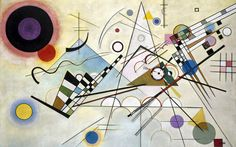 Composition VIII ~ Wassily Kandinsky, oil on canvas, 55 x 79 Solomon R. Guggenheim Museum, New York. The first of more than 150 works by the artist to enter the collection. Kandinsky regarded 'Composition as the high point of his postwar achievement. Abstract Expressionism, Abstract Art, Abstract Designs, Abstract Landscape, Abstract Posters, Landscape Design, Kandinsky Art, Kandinsky Prints, Wassily Kandinsky Paintings