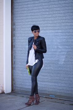 120 Work Outfits For African American Women Leather Leggings Outfit, Legging Outfits, Fall Winter Outfits, Autumn Winter Fashion, Chic Outfits, Fashion Outfits, Work Outfits, Mein Style, Look Fashion