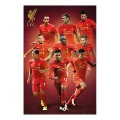 Liverpool FC Players 2016 - 2017 Season Poster | iPosters