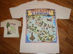 Vintage 1998 Jimmy Buffett Carnival Tour Concert T-Shirt Mens Medium #murina #GraphicTee