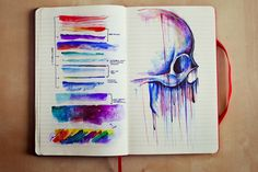 colorful painting of a skull - Google Search