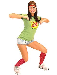 sun drop teen costume make it hot on halloween when you drop it low in this officially licensed sun drop adult teen costume set - Teen Halloween Outfits