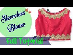 Boat Neck Sleeveless Blouse- Side Zipper - YouTube