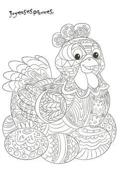 poule de Pâques a decorer