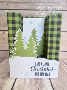 Pining for Plaid October 2017 Paper Pumpkin Kit Alternate Ideas Christmas Cards To Make, Handmade Christmas, Office Christmas, Christmas Wishes, Fancy Fold Cards, Folded Cards, 3d Cards, Scrapbook Page Layouts, 12x12 Scrapbook