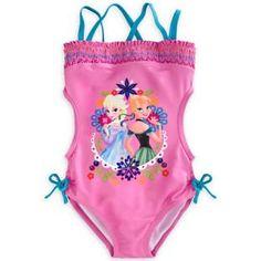 Anna & Elsa Trikini Swimsuit for Girls