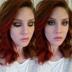 Smoky makeup ideas for redheads. Charmaine at CharMarie Salon in Christiansburg, VA