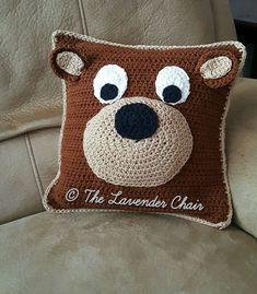 Teddy Bear Pillow - Free Crochet Pattern - The Lavender Chair