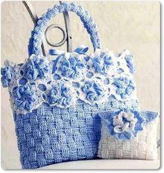 Linda sugestão para tecer uma bolsinha em crochê...            grafico bolsa