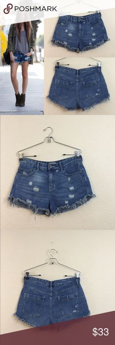 Free people shorts Free people cut off shorts size 28 distressed no damages Free People Shorts Jean Shorts