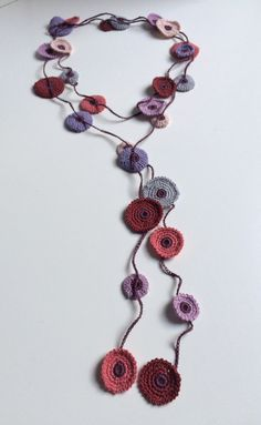 Plum lilac and blue shades Turkish style by GabyCrochetCrafts