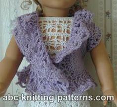 ABC Knitting Patterns - American Girl Doll Lacy Bolero