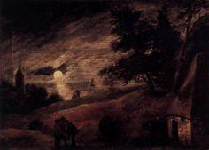 BREITNER, George Hendrik Moonlight 1887-89 Oil on canvas, 101 x 71 cm Musée d'Orsay, Paris