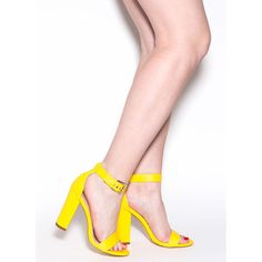 Thick Of The Action Chunky Heels YELLOW ($25) ❤ liked on Polyvore featuring shoes, pumps, yellow, chunky heel pumps, yellow pumps, thick shoes, thick-heel pumps and yellow shoes