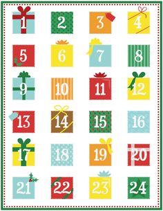 Printable Advent Calendar - Page 1