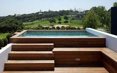 "Search Result for ""mini pool"" - Garden & Terrace Ideas. Small Backyard Pools, Backyard Pool Designs, Small Pools, Swimming Pools Backyard, Swimming Pool Designs, Pool Decks, Pool Landscaping, Mini Pool, Above Ground Pool"