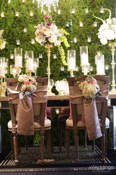 Rustic, garden party inspired wedding decor ~ Flora & Eventi ~ Photo: D. Jones Photography