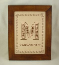 Irish Celtic Family Name Sign  Burnt in by KillorglinCreations, $60.00